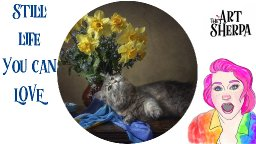 Floral Still Life With cat Step by step Acrylic Live stream   TheArtSherpa
