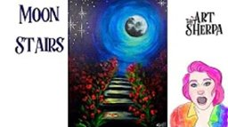 How to paint easy moonlight Stairs Live streaming Step by Step Tutorial
