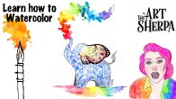 Patron Exclusive Watercolor Baby Elephant (check you dashboards/under Projects