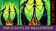 How to paint Witches 13 days of Halloween live stream painting Step by step Day 3