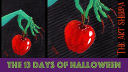 Poison Apple 13 days of Halloween live stream painting Step by step Day 9 | TheArtSherpa