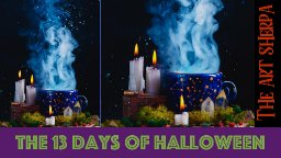 Magic Still life 13 days of Halloween live stream painting Step by step Day 10   TheArtSherpa