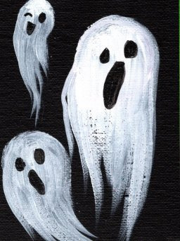 How to Paint the Easiest Ghosts Halloween painting Step by step Day 5 | TheArtSherpa