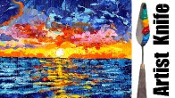 Abstract Palette Knife ocean for beginners Step by step Live stream   TheArtSherpa