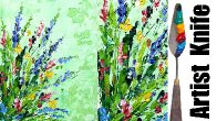 Abstract wildflowers step by step acrylic tutorial palette knife for beginners   TheArtSherpa