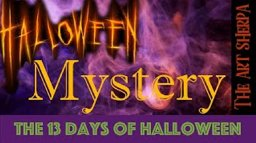 Mystery Paint along 13 days of Halloween live stream painting Step by step Day 13 | TheArtSherpa