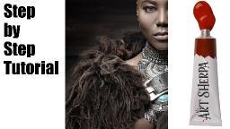 How to paint warrior Queen Oya Big art Quest fairytale | TheArtSherpa