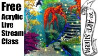 Live Stream Acrylic Class Fantasy Fairytale Forest Stone Steps | TheArtSherpa