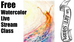 Live Stream watercolor Class How to paint a Fall Fairy | TheArtSherpa