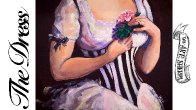 How to paint a Romantic Dress Acrylic  painting Full tutorial | TheArtSherpa
