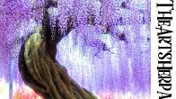 Wisteria Ancient tree Step by step Acrylic Tutorial beginners | TheArtSherpa