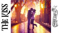 Two lovers Kissing in a city night park