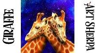 GIRAFFE LOVE STARS  Beginners Learn to paint Acrylic Tutorial Step by Step