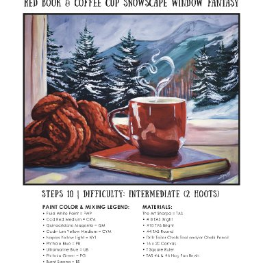 Red cozy Cup step by step minibook