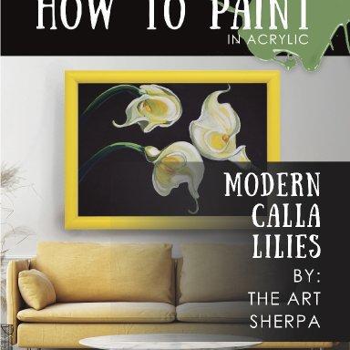 3 Calla lilies minibook step by step
