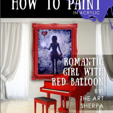 Romantic Girl Red Heart Balloon Step by step mini book