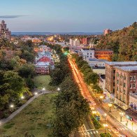 Downtown - Aerial, Dusk