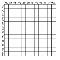 12x12 Grid WATERCOLOR CHART