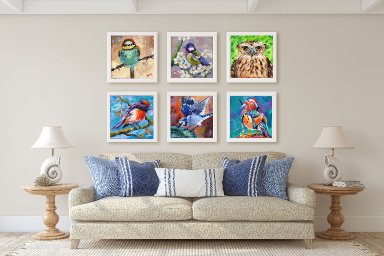 ALL SIX Bird Prints from both The Art Sherpa AND Ginger Cook  Bird Hop 2