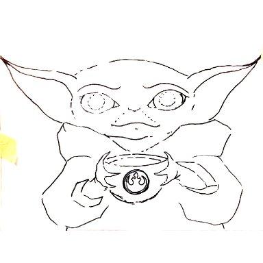 Patrons exclusive class : Baby Yoda Acrylic lesson