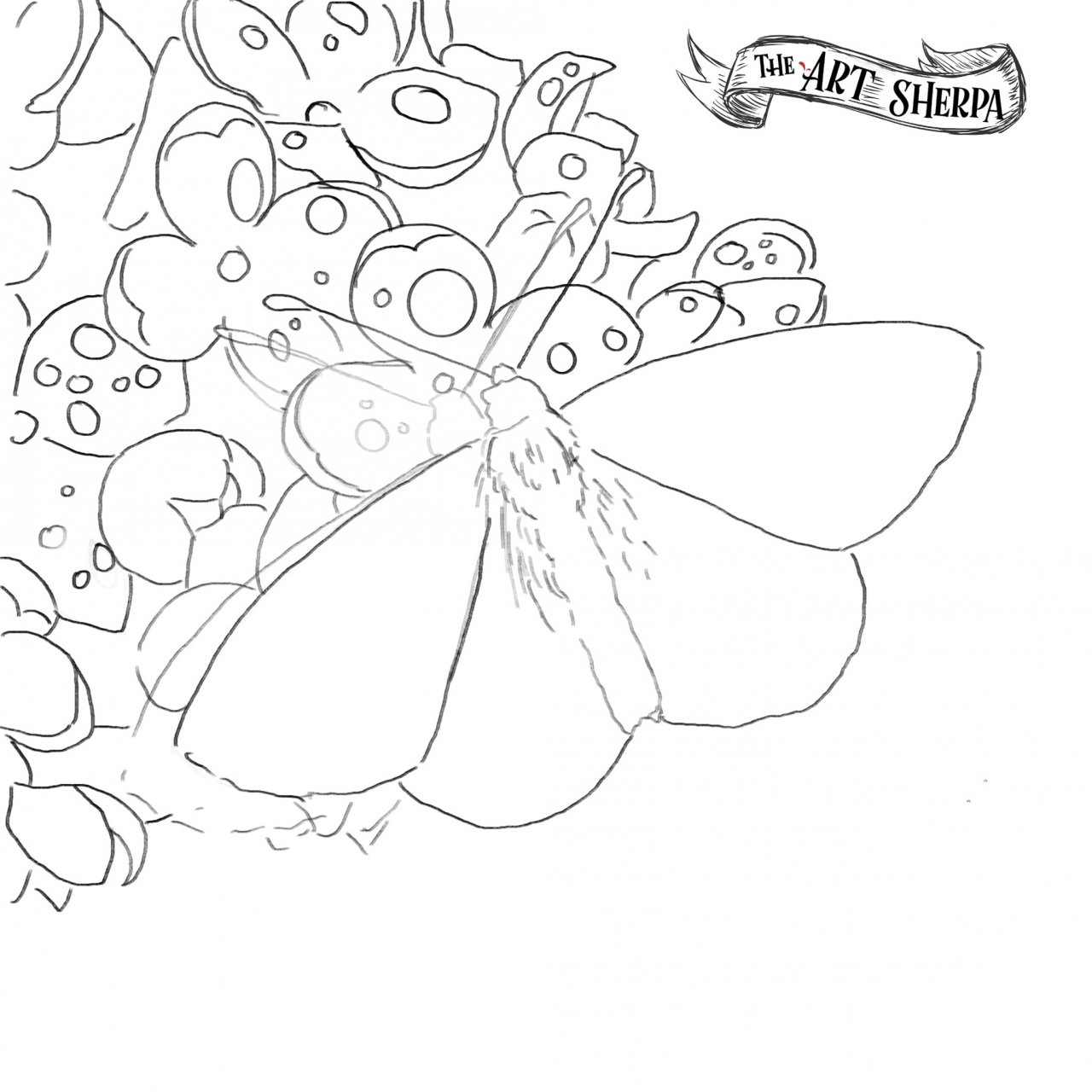 Butterfly on Lilac Traceable