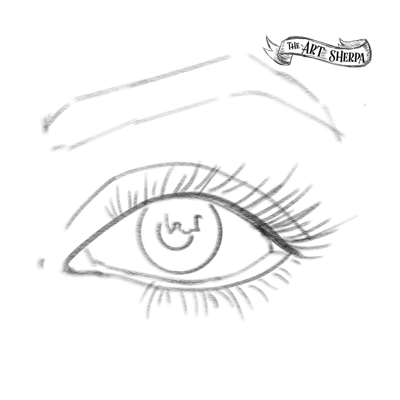 Eye watercolor traceable