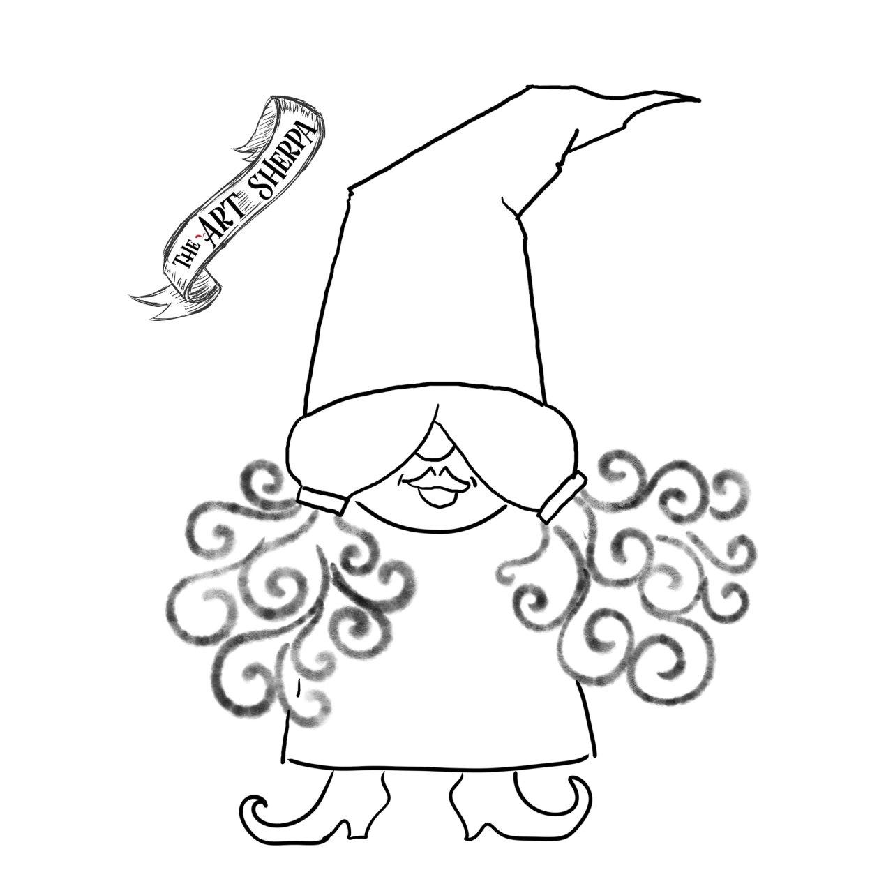 Easy Girl Candy Corn Gnome Girl