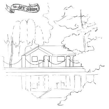 Autumn lake Cabin traceable