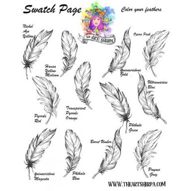 Color Your Feathers Swatch Page