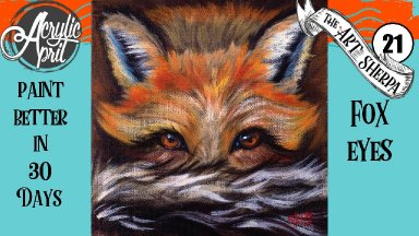 Red Fox Easy Daily Painting  Step by step Acrylic Tutorials Day 21 #AcrylicApril2020