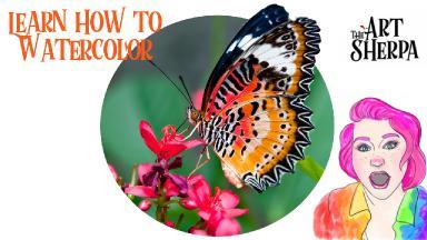 Watercolor Beautiful Butterfly