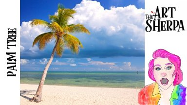 How to paint a realistic Palm tree on the  Beach Acrylic tutorial  | TheArtSherpa