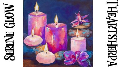 Serene Candle Still Life Acrylic Tutorial Step by Step  | TheArtSherpa