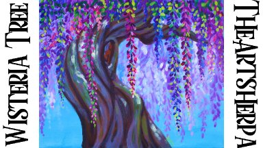 Wisteria Ancient tree Step by step Acrylic Tutorial beginners   TheArtSherpa