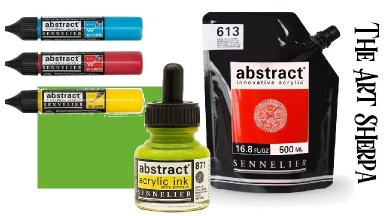 The Complete Abstract Paint by Sennelier Review and demo | TheArtSherpa