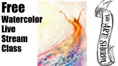 Fall Fairy Watercolor