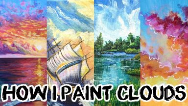 How I paint Clouds Step by step my best techniques | TheArtSherpa