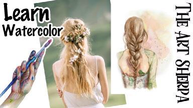 Boho Hair Watercolor Video