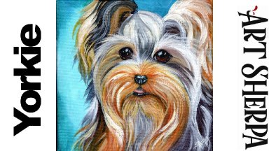 YORKIE  Beginners Learn to paint Acrylic Tutorial Step by Step