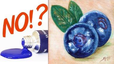 Paint BLUE  WITHOUT BLUE  Paint - Color Mixing technique