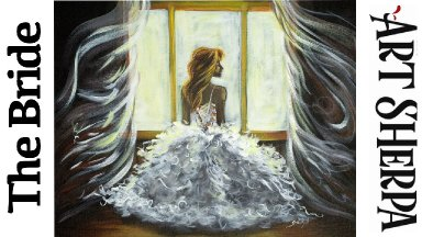 BRIDE IN GOWN ROMANCE  Beginners Learn to paint Acrylic Tutorial Step by Step