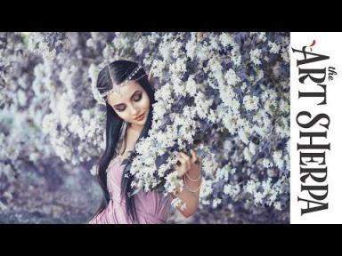 The Flower Elf Acrylic Painting  on Canvas  Fairy Tale part 3