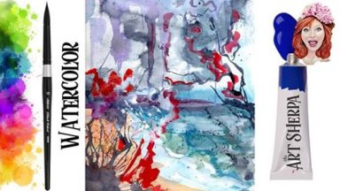 Abstract paint out the feelings watercolor step by step The Art Sherpa