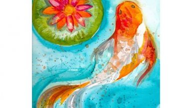 Learn how to paint with watercolor Koi fish Free art video lesson