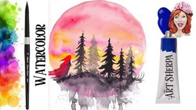 How to paint The Edge of the Woods with Watercolor