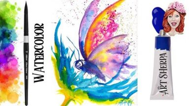 Learn how to paint a EASY Watercolor Butterfly step by step