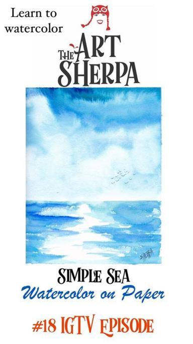 Simple Seascape in watercolor