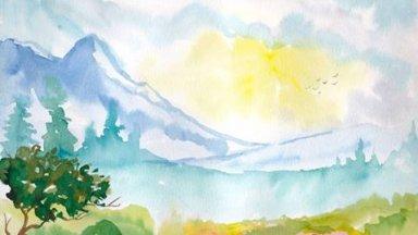 mountain , big sky and wildflowers