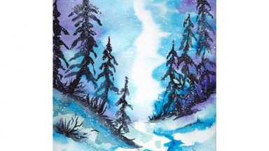 Snowy Forest WaterColor