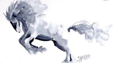 Running Horse Watercolor